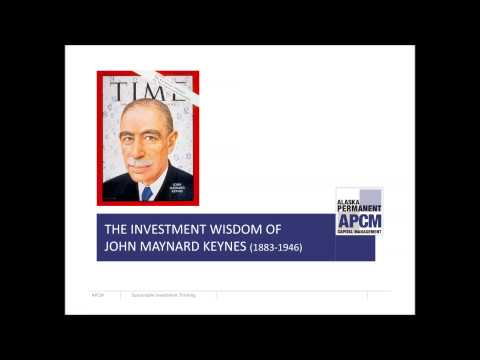 The Investment Wisdom of John Maynard Keynes - CFA Seattle Speaker Event May 9th, 2013
