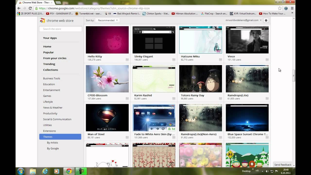 Themes za google - Kako Skinuti I Instalirati Teme Za Google Chrome How To Get And Install Themes For Google Chrome