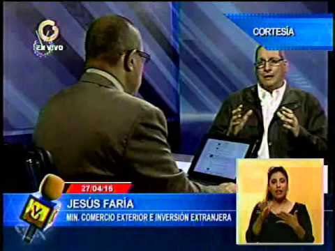 Jesús Faría culpa al modelo rentista de la crisis económica en Venezuela