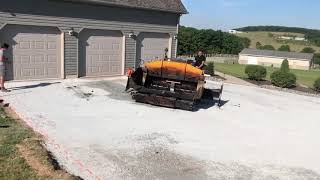 Ready to blacktop the driveway