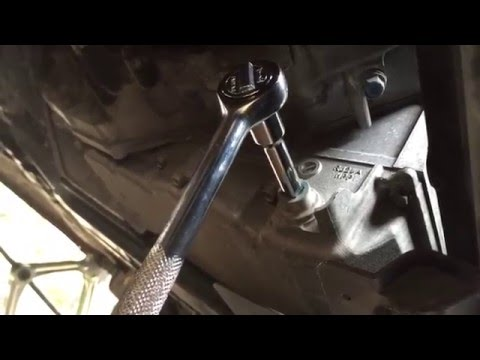 How to loosen a stuck transmission drain plug