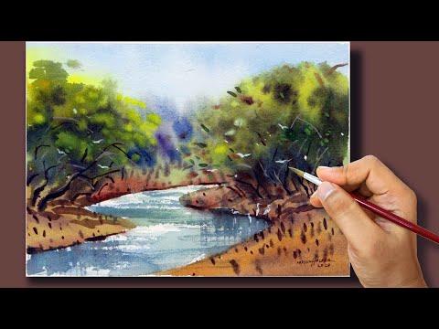 #30 Quick Watercolor Landscape Painting