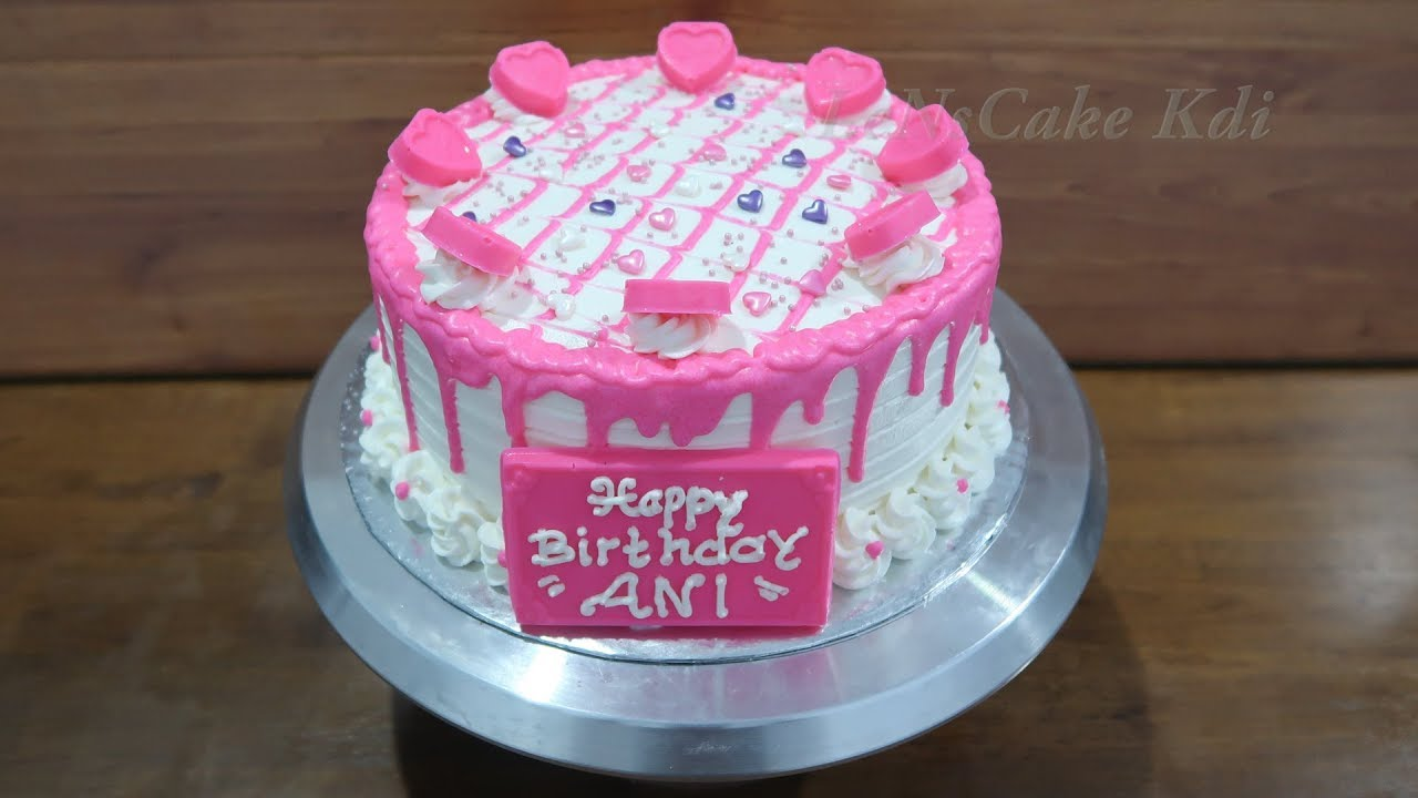 Decorating Birthday Cake For Girl Tart Cake Chocolate