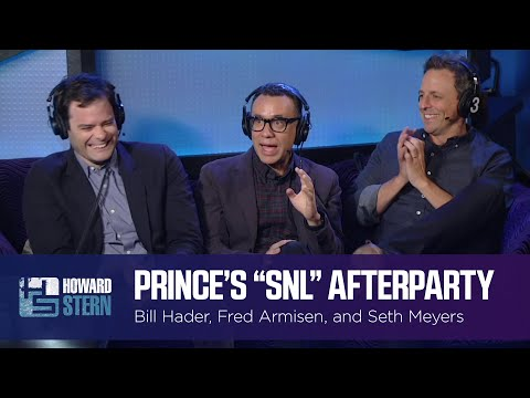 """Fred Armisen, Bill Hader, and Seth Meyers Recall Prince's """"SNL"""" Afterparty"""