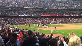 Walk Off Hit Burriss SF Giants vs Oakland A