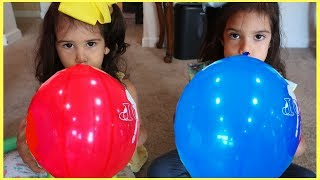 Sam And Abby  Learn Colors with Balloons /Nursery Rhyme song