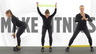 Комплекс Упражнений для Всего Тела с фитнес резинкой| Ягодицы, Бедра, пресс, руки.