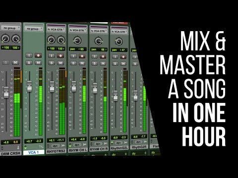 How To Mix And Master Your Song In Under An Hour