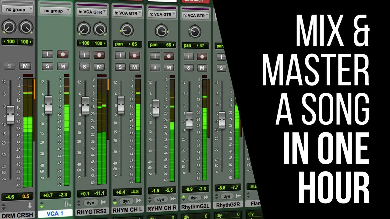 How To Mix And Master Your Song In Under An Hour ...