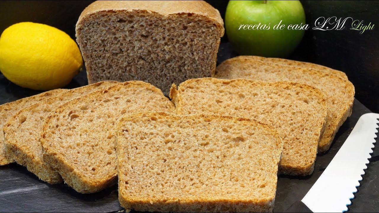 Receta de como hacer pan integral en casa