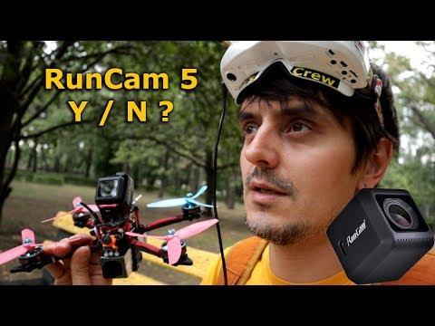 RunCam 5, обзор и тестовый полет экшн камеры для 4к сьемки