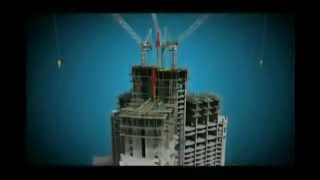 Burj Khalifa Burj Dubai Construction Animation
