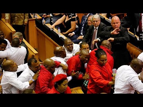 South Africa: Brawls break out during Zuma's State of the Nation address