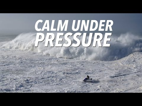 Calm Under Pressure - Big Wave & Dramatic Rescue Sequence #Drone Nazaré, Portugal [4K]