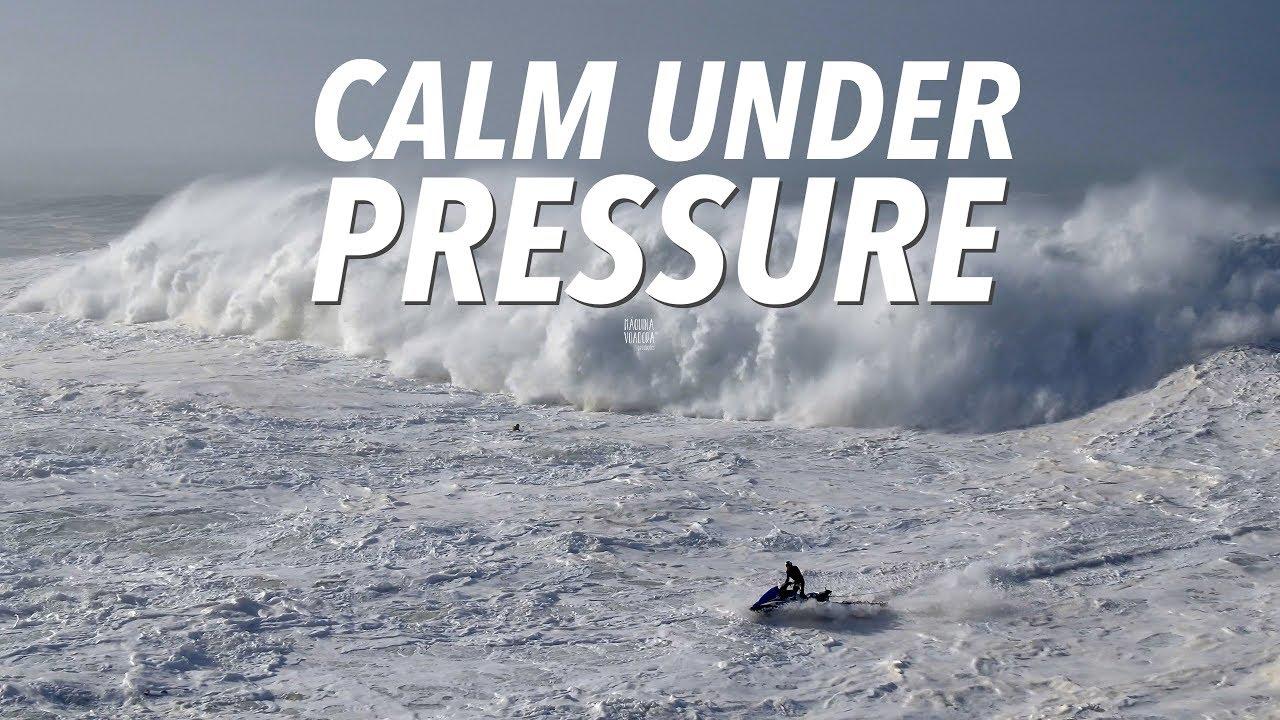 Calm Under Pressure - Big Wave & Dramatic Rescue Sequence #Drone Nazaré, Portugal [4K]