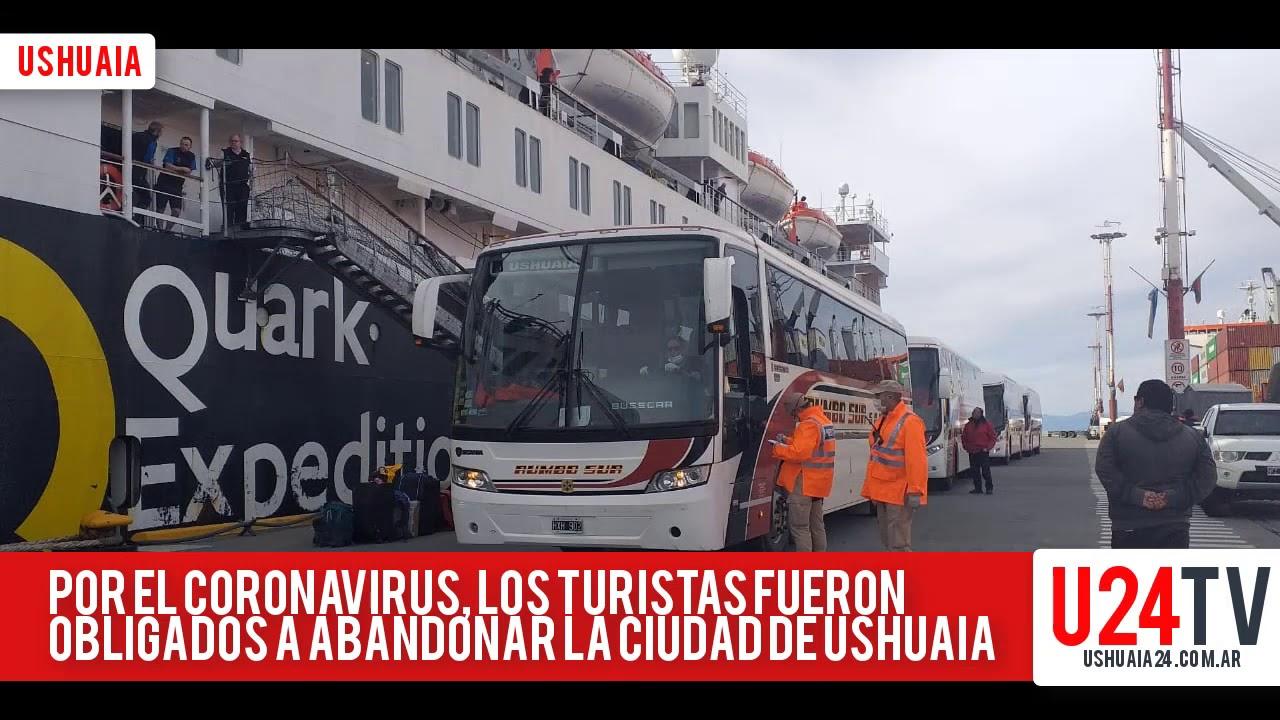 Coronavirus en Ushuaia: Trasladaron a turistas de un crucero hacia al aeropuerto