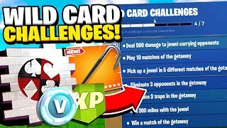 "Fortnite WILD CARD CHALLENGES! FREE Fortnite ""High Stakes Event"" Skins and Items WILD CARD SKINS"
