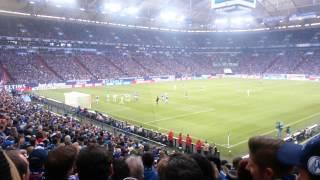 2014.02.01 Veltins Arena, Schalke 04 - Wolfsburg, Nordkurve