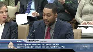 3/11/19 Marcus Harcus, MN Campaign for Full Legalization, testifies in support of SF 619