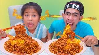 Eating Hot Chilli Noodle Challenge