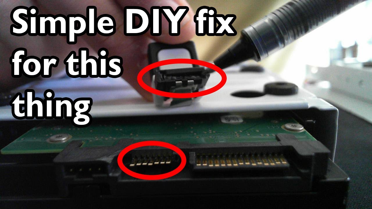 medium resolution of fixing a broken port on your sata device