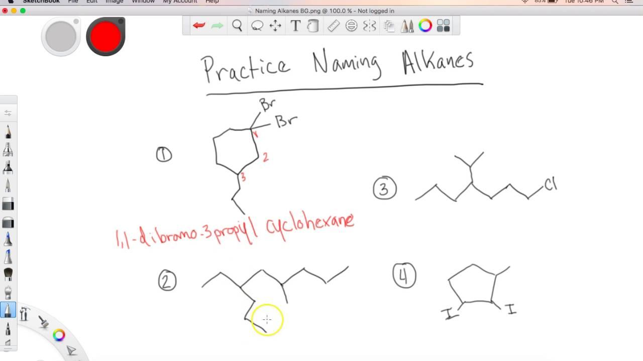 Practice Naming Alkanes
