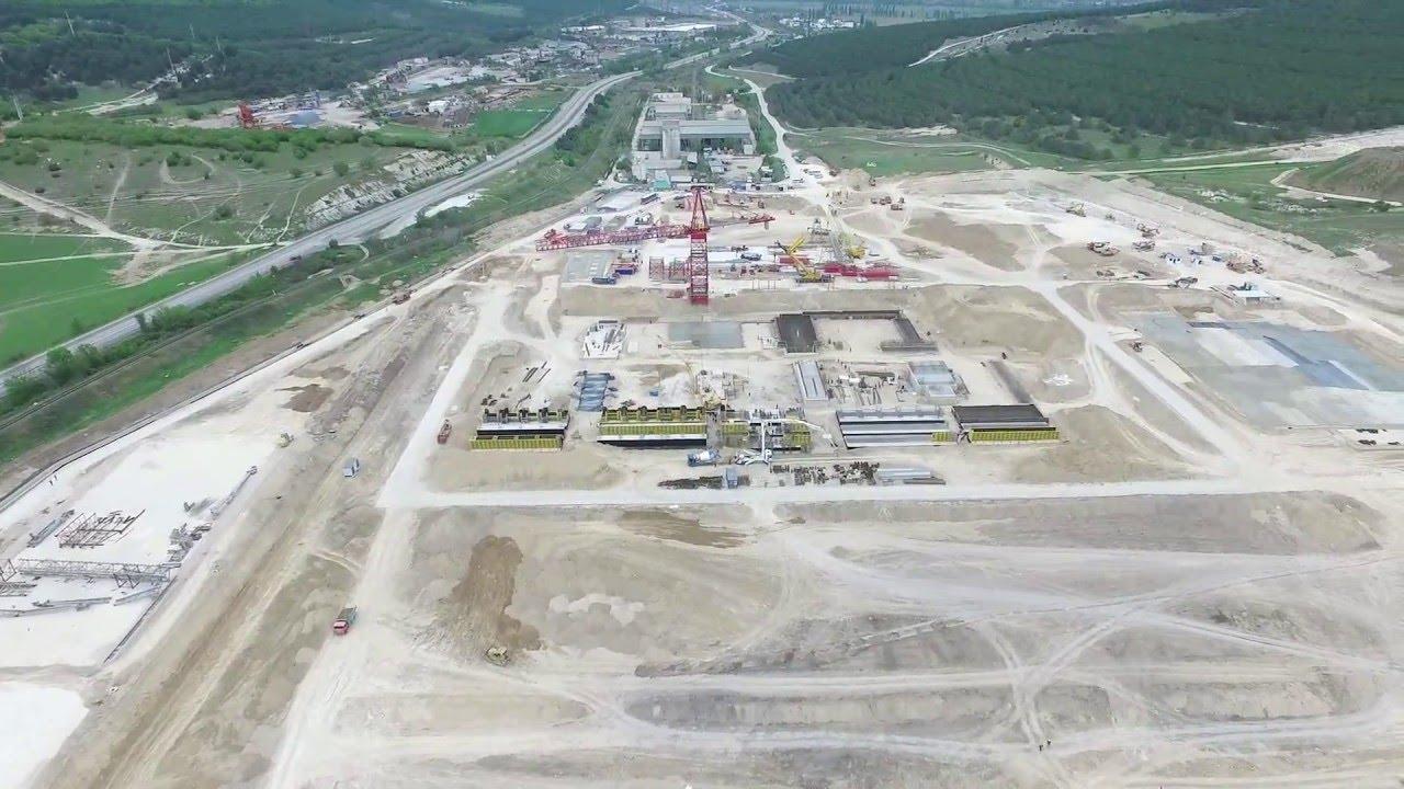 Строительство Севастопольской ТЭС, аэросъемка Phantom 3