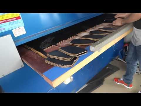 Leather Cutting Press by HG 4 column precision cutting machine