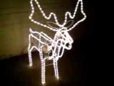 3d xmas moving head reindeer rope light youtube