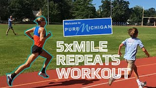 Mile repeats in Michigan!! (feat Parker Stinson) | ENDURE ep. 10