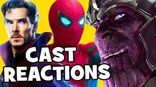 AVENGERS INFINITY WAR Footage Cast REACTIONS - Josh Brolin, Tom Holland, Benedict Cumberbatch