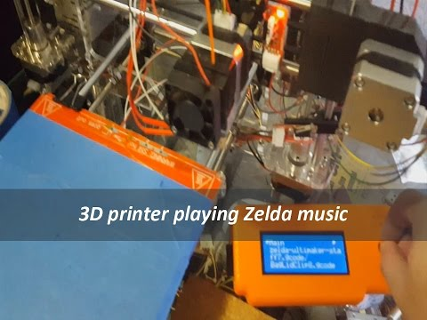 Playing Music with your 3D Printer Zelda Theme