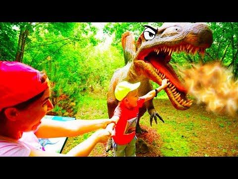 Егор и Гигантский Парк Динозавров в Москве