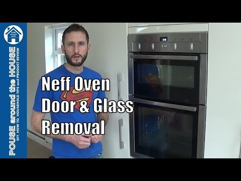 How to remove Neff oven door and glass. Neff oven glass & door removal.