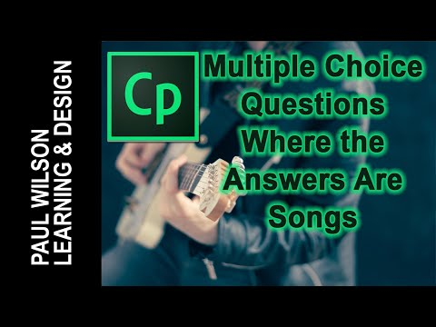 Adobe Captivate - Multiple Choice Where the Answers Are Songs