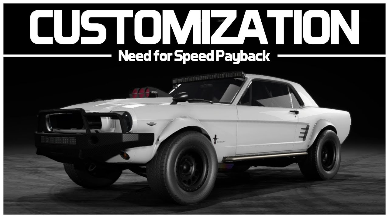 Need for speed payback preview offroad super build customization ford mustang