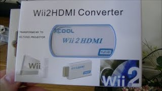 KCOOL Wii to HDMI Converter unboxing and review and demo