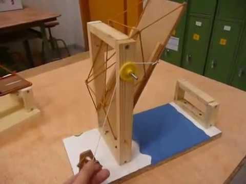 Puente levadizo con accionamiento manual youtube for Mecanismos de estores caseros