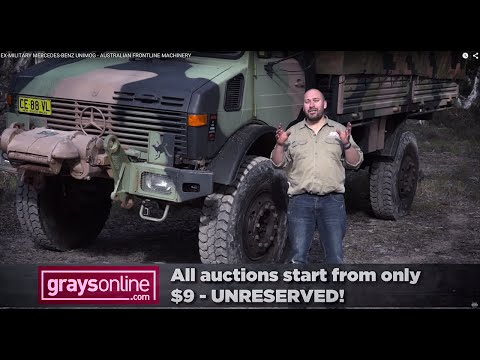Ex-military Mercedes-Benz Unimog Offroad Test Drive