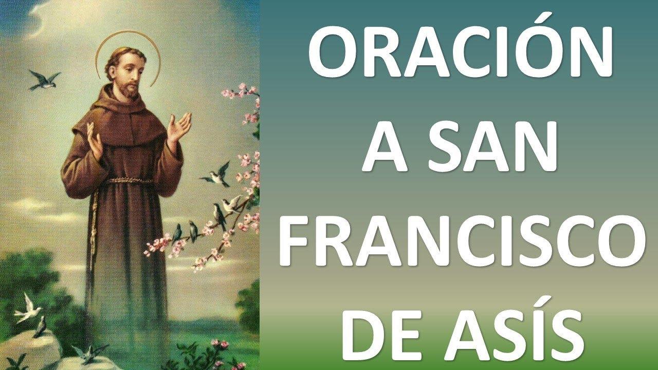 Resultado de imagen para oracion a san francisco de asis