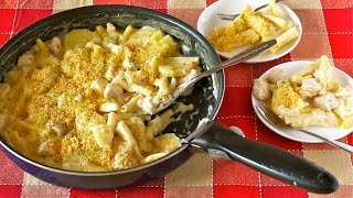 How To Make Easy No Bake Macaroni Gratin (one-pot Frying Pan Recipe) フライパン1つで簡単!マカロニグラタンの作り方 (レシピ)