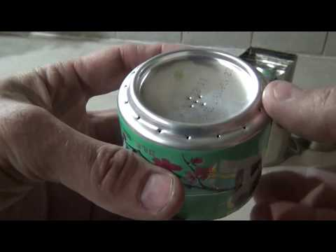 Arizona tea can alcohol burner