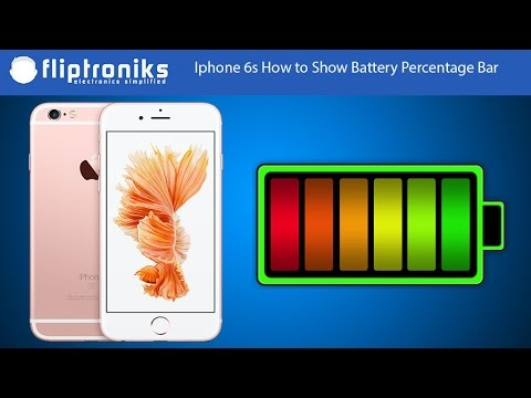 iphone battery percent iphone 6s how to show battery percentage bar 11642