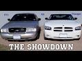 Crown Vic P71 vs police Charger Hemi