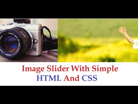 Image Slider with simple HTML and CSS | Amazing CSS Animation - Part 1
