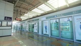 【韓国】 釜山-金海軽電鉄 空港駅 부산-김해 경전철 공항역 Busan–Gimhae Light Rail Transit Gimhae, Korea (2018.10)