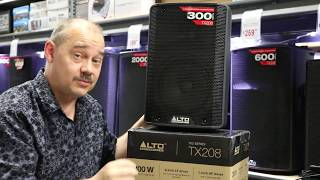 "Alto TX208 Sound Test and review How loud is a 300 watt D Class power amp with an 8"" speaker"