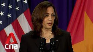 "Kamala Harris says US will ""speak up"" on South China Sea"