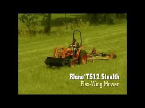 Rhino TS12 Stealth Flex-Wing Mower - YouTube
