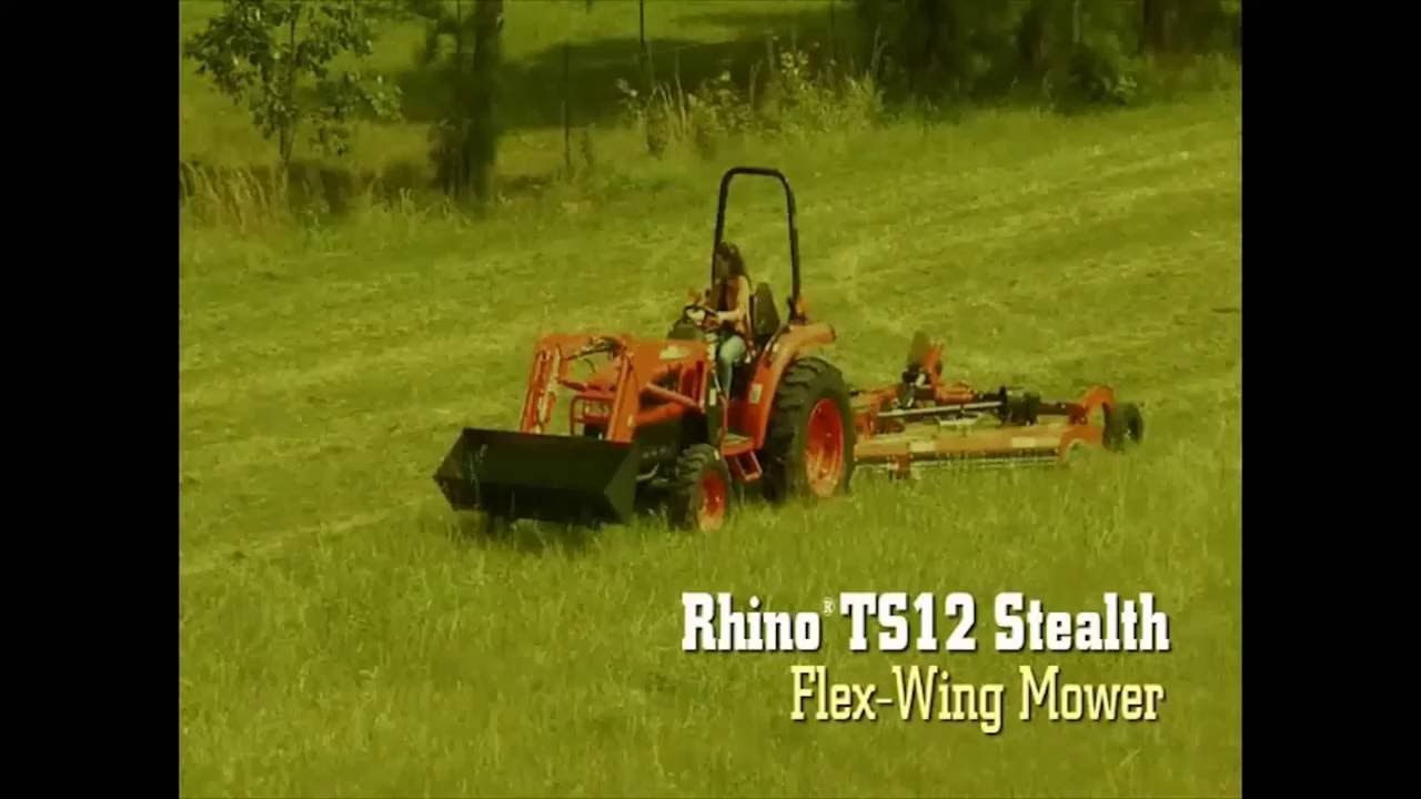 Rhino TS12 Stealth Flex-Wing Mower